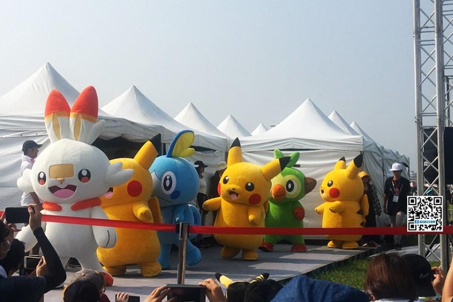 【新北】。寶可夢玩家擠爆新北大都會公園! 皮卡丘每日三場表演 10/3日登場