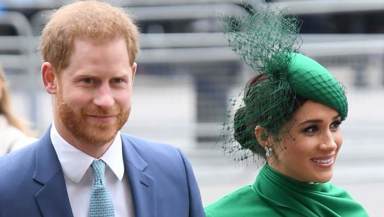Prince Harry and Meghan Markle in their final act as members of the British Royal House