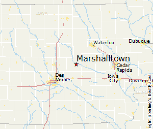 Marshalltowniowa Map