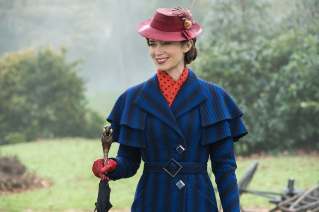 Emily Blunt in the return of Mary Poppins