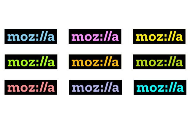 The new palette of colors of Mozilla.