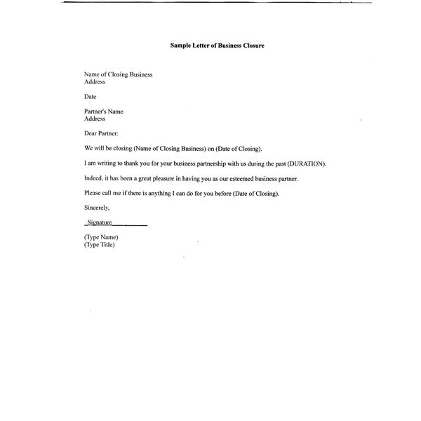 28 Bank Facility Cancellation Letter