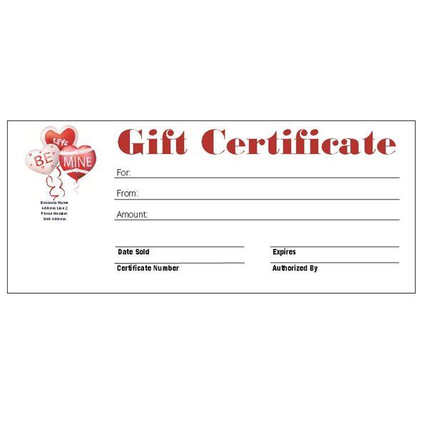 Valentine Gift Certificate Template Free - FREE DOWNLOAD