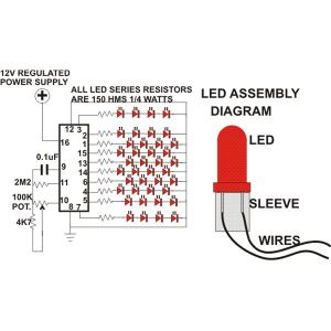 How to Build a Simple Circuit For LED Christmas Tree Decoration? Do It Yourself Using Just a