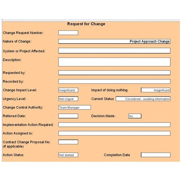 Free Change Control Template Download Customize For Your