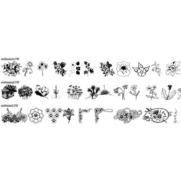 Top 10 Free Floral Dingbats Flower Dingbat Fonts For Any