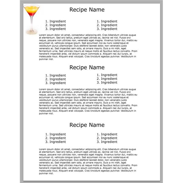 Cookbook Word Template. 1000 ideas about cookbook template on ...