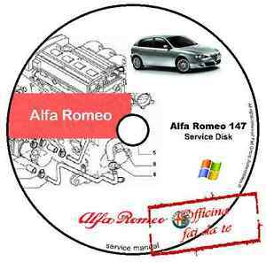 Workshop Manuals  Alfa Romeo 147 eLearn workshop manual