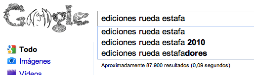 Signo Editores, Ediciones Rueda estafa