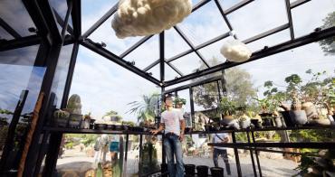 彰化田尾│酉Succulent & Artwork-彰化IG新打卡點,有著可愛雲朵的玻璃溫室,戶外還有沙漠造景喔
