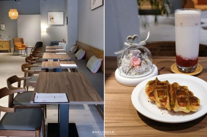 台中西屯│查壹茶-中科商圈咖啡館,在舒適空間裡享用可頌鬆餅