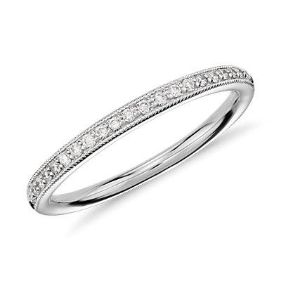 Heirloom Petite Pav Diamond Ring In 14K White Gold 18
