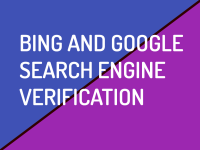 Bing and Google Search Engine Verification