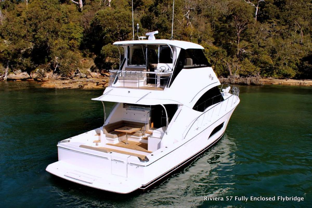 Riviera 57 Enclosed Flybridge Shaft Drive R Marine Jones