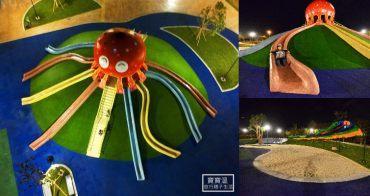 苗栗最新特色公園》貓裏喵親子公園,八爪大章魚磨石子滑梯,夜間有點燈也能玩