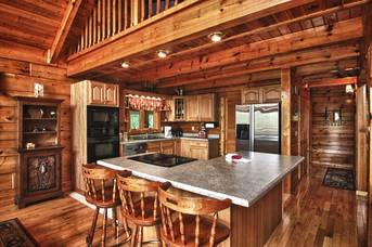 Fully Equipped Kitchen..  at Livin' Lodge in Sky Harbor TN