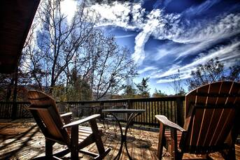 Beautiful Views from the Deck!! at Livin' Lodge in Sky Harbor TN