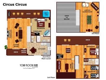 Floor Plan at Wahoo Lodge  in Grand View (Sterling Springs) Resort TN
