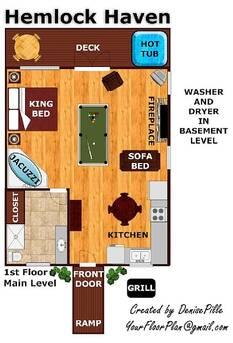 Floor plan at Hemlock Haven in Sky Harbor TN