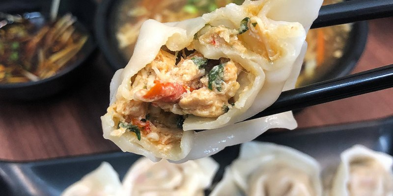 【台南水餃】元寶水餃,超有特色的創意水餃~把泰式打拋雞肉直接包進了水餃裡!