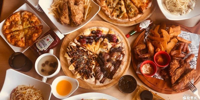 台南義式吃到飽,披薩、炸雞、義大利麵任你吃-Double Cheese手工窯烤披薩,大口吃,超滿足~