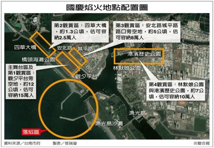 2020 年國慶煙火「漁光島」登場!交通、路線、觀賞區,一張圖帶你搶先卡位~