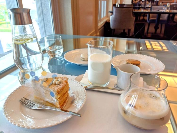 台南 仁德區 深藍咖啡館 咖啡 千層蛋糕 在奇美博物館內享用美味下午茶