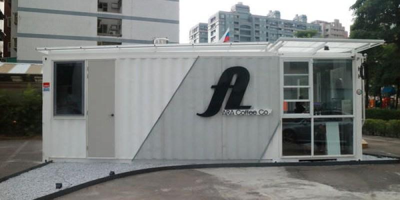 台南ARA coffee Co,IG熱門打卡咖啡廳!絕美白色貨櫃屋、清爽視覺派咖啡館~