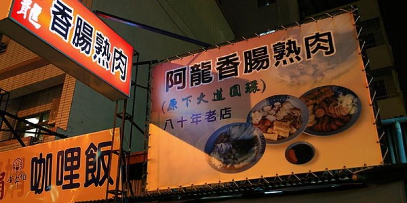 台南中西區「阿龍香腸熟肉」(原下大道圓環)台式下午茶~