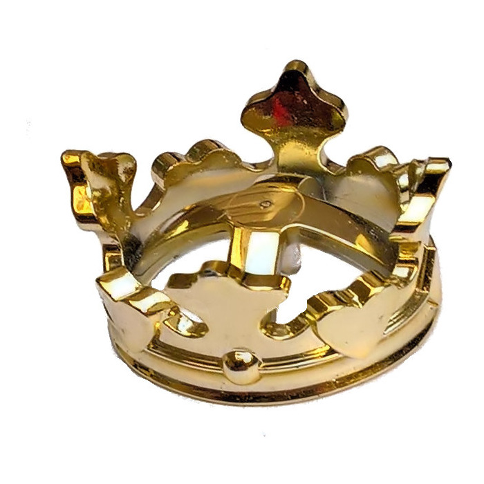 LEGO Chrome Gold King Crown  72515    Brick Owl   LEGO Marketplace LEGO Chrome Gold King Crown  72515