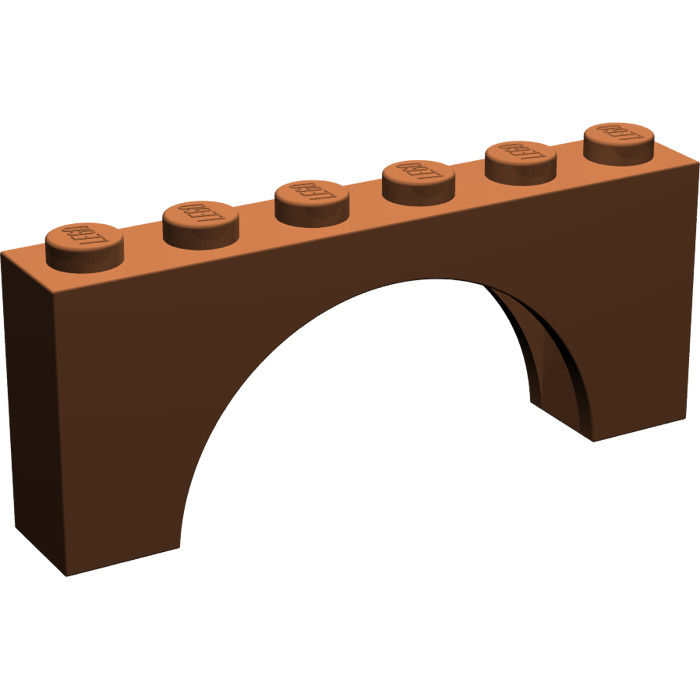 LEGO Arch 1 x 6 x 2 Thick Top and Reinforced Underside  3307     LEGO Reddish Brown Arch 1 x 6 x 2 Thick Top and Reinforced Underside  3307