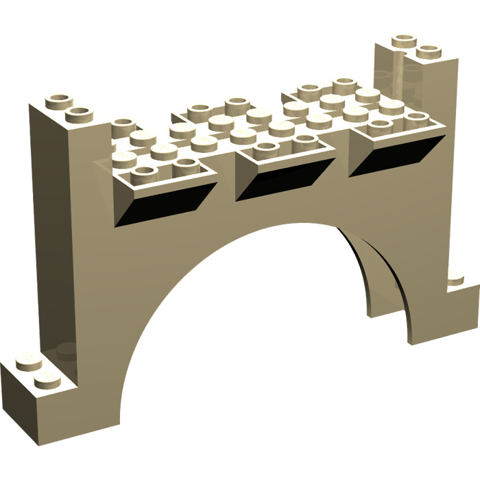 LEGO Arch 2 x 12 x 6 with Grooves  30272    Brick Owl   LEGO Marketplace LEGO Tan Arch 2 x 12 x 6 with Grooves