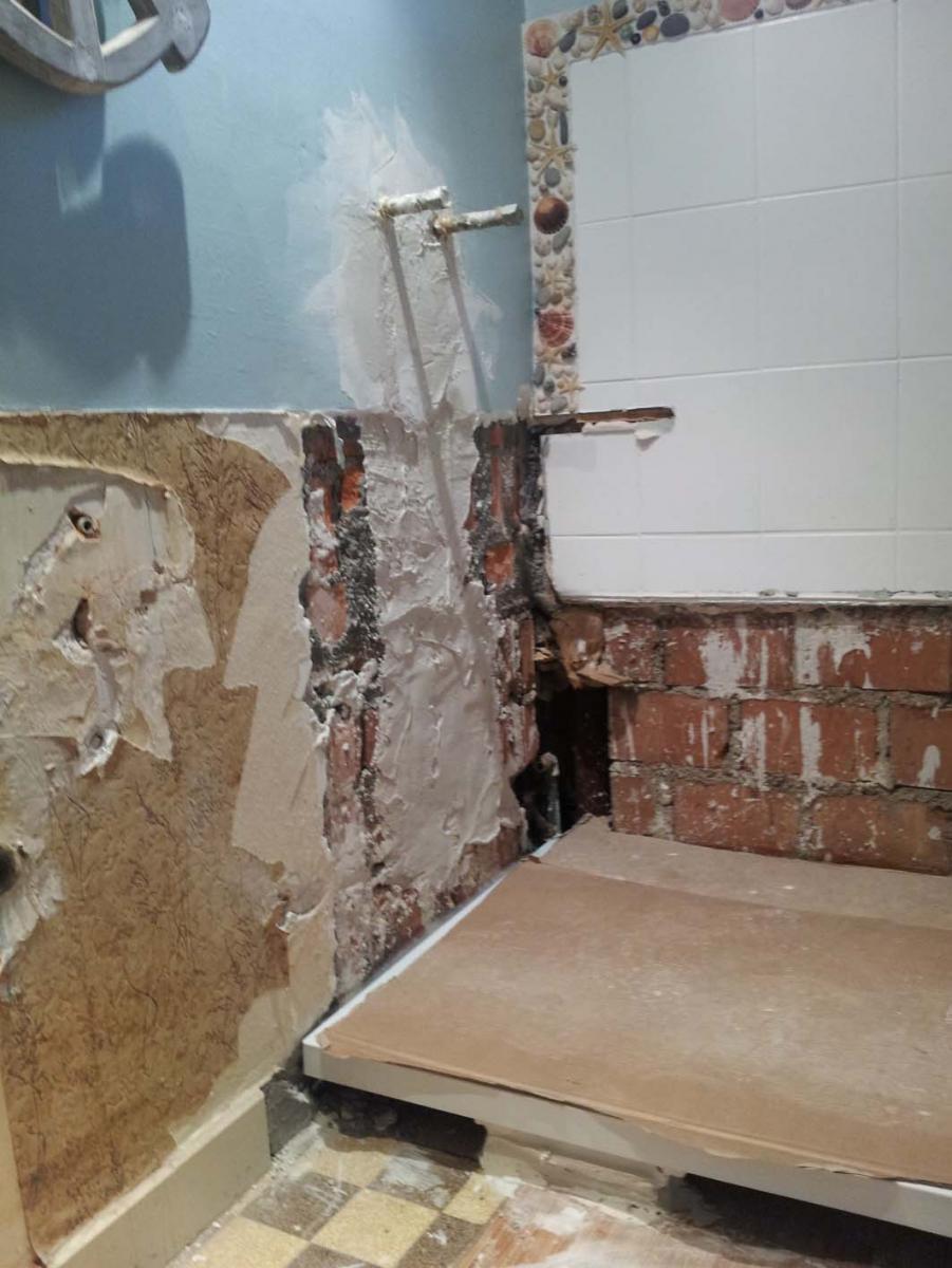 Mise Niveau Murs Salle De Bain Avant Carrelage