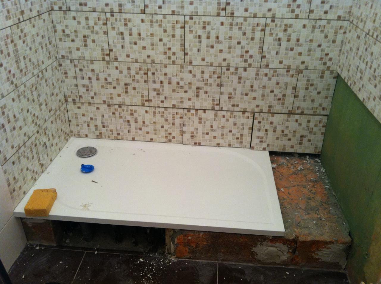 installation receveur douche extra plat