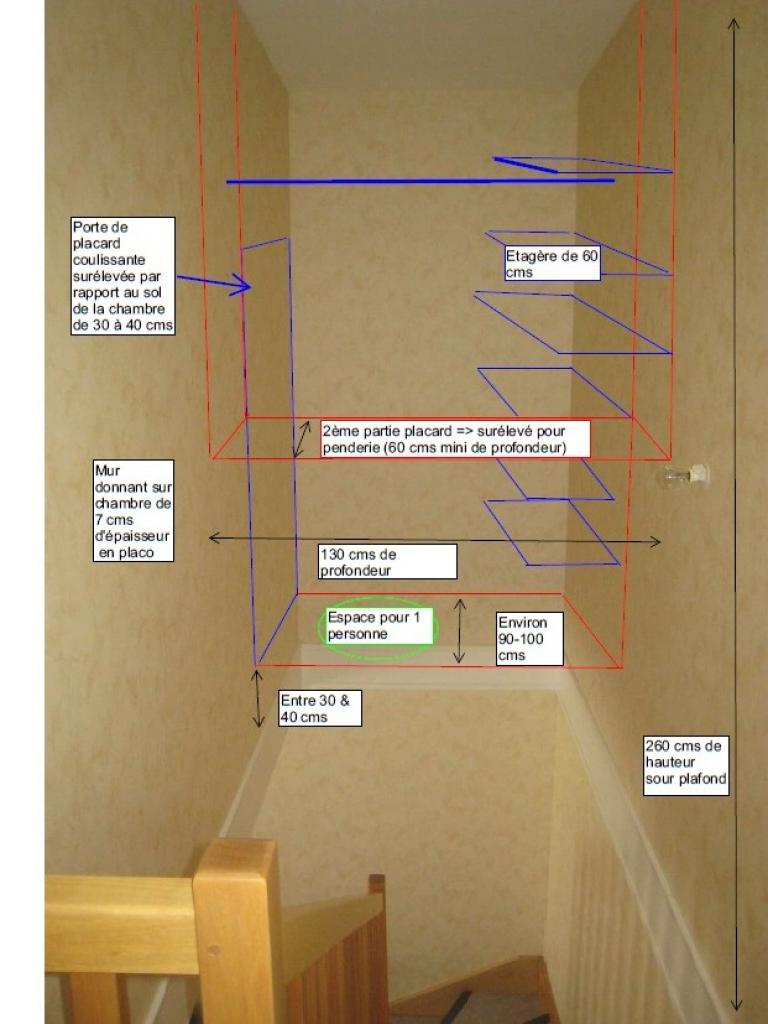 Fixer 1 Placard Dans Le Vide Dune Cage Descalier Entre 2