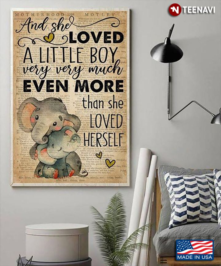 Download vintage dictionary theme elephants and she loved a little ...
