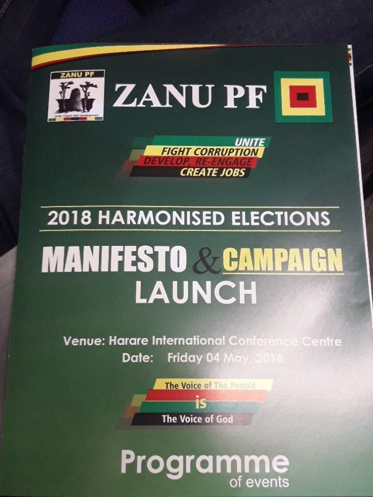 Image result for zanu pf manifesto 2018