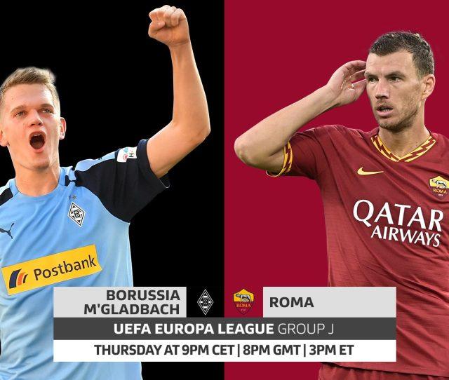 Borussia Monchengladbach Vs Roma Uefa Europa League Probable