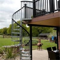 Exterior Stainless Steel Spiral Staircase Design Prefabricated | Outdoor Metal Stairs For Sale | Steel Pipe | Charcoal Metal | Prefabricated Steel | Beautiful Steel Patio | Steel Ornamental
