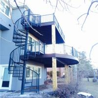 Exterior Stainless Steel Spiral Staircase Design Prefabricated | Used Outdoor Spiral Staircase For Sale | Trade Assurance | Alibaba | Wrought Iron | Deck | Alibaba Com