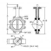 Lug Style Api609 Electric Actuated Butterfly Valve