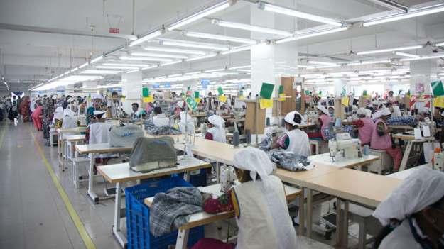 Garment production line in Bangladesh | Source: Wikimedia Commons/Musamir Azad