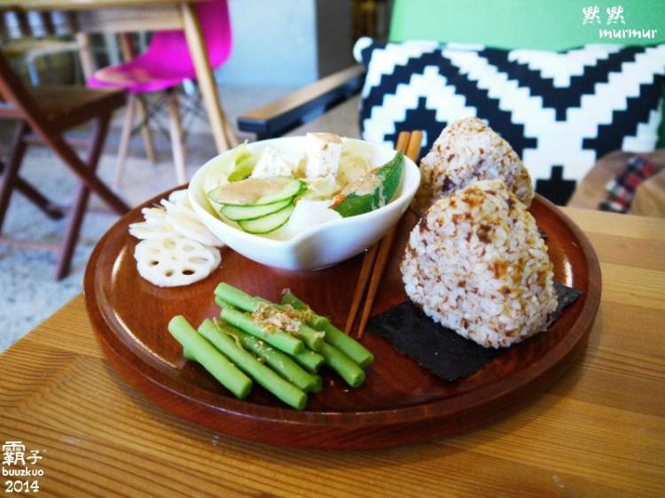 <台中˙食> 「默默murmur」日式飯糰輕食小店 ~ (內有店狗碗粿睡覺照片)