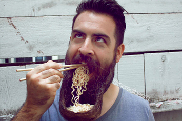 Man Makes Beard Into Bowl Eats Ramen Out Of It Disgusts