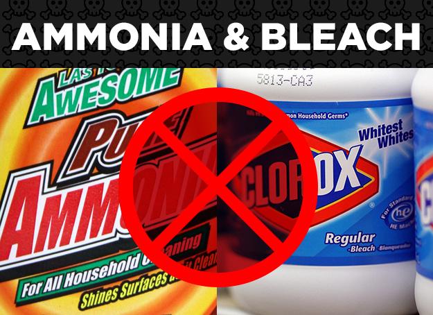 Ammonia + Bleach = Toxic Chloramine Vapors