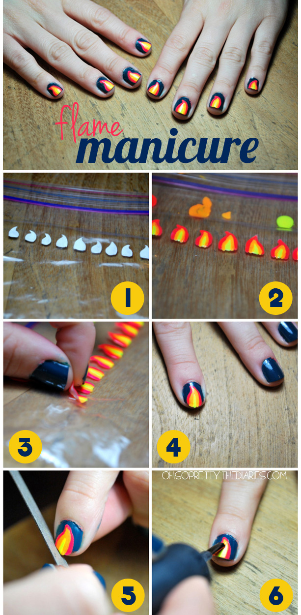 Make Your Own Nail Decals Using The Plastic Baggie Method