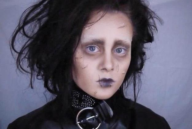 Edward Scissorhands Hair and Makeup