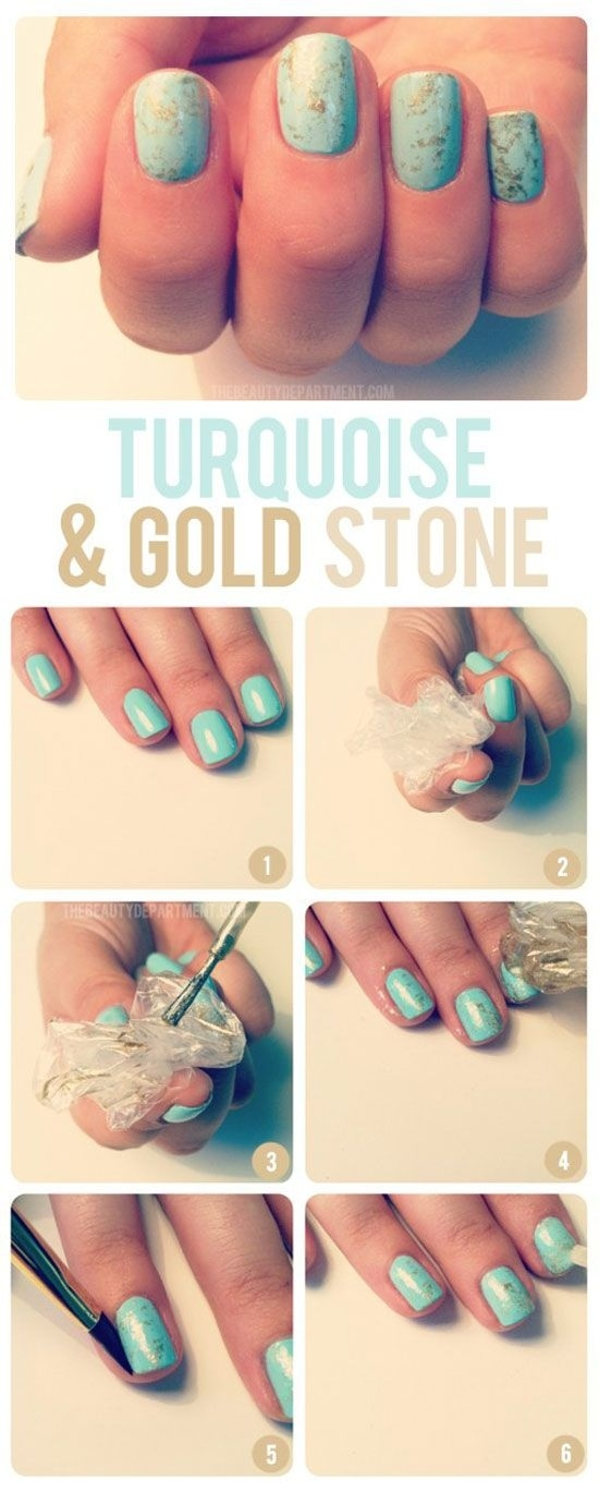 Prev Next Plastic Bag Nail Art Post Decided Try Give Marbled Nails