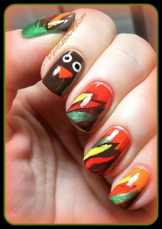 Thanksgiving Nail Art Decal Nails Polish Colour