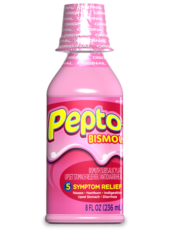 Pepto Bismol can also be used for upset skin.